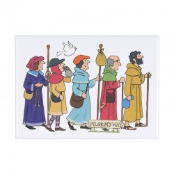 Pilgrims Fridge Magnet
